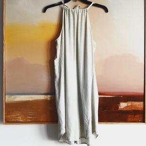 Anthropologie Cloth & Stone Denim Halter Dress